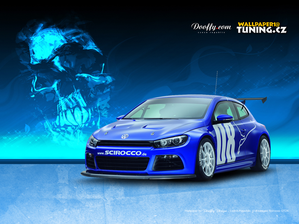 wallpapers - cars  automobily  - volkswagen scirocco gt24